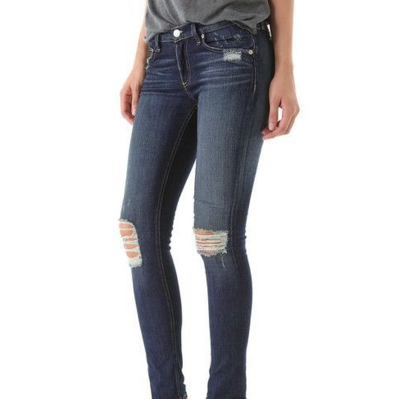 Vigoss Denim - VIGOSS Collection Distressed New York Skinny Jeans